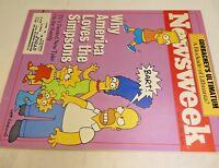 Newsweek April 1990 Why America Love Simpsons Gorbachev's Ultimatum of Lithuania