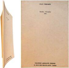 Ivan Theimer exposition octobre-novembre 1975 Galerie Armand Zerbib Jean Clair