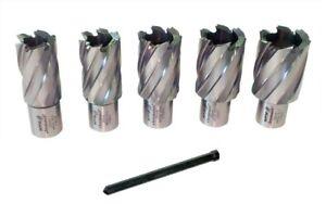 Rotabroach Raptor 6 Piece Mag Drill Cutter Set  22mm - 30mm with Pilot Pin
