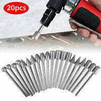 20Pcs 120 Grit Diamond Burr Set Drill Bits Set for Dremel Tool Rotary Grinding