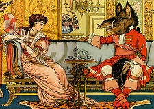 """Beauty and the beast re-print art Poster Paper 13""""X 19"""". 7 Mil Inkjet Paper"""