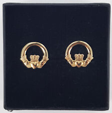 9ct Yellow Gold Solvar Claddagh Stud Earrings