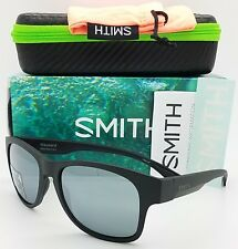 NEW Smith Wayward Sunglasses Matte Black Chromapop+ Polarized Platinum $219 pop