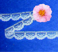 "White Lace Trim 16 Yd x 1/2"" Scalloped CLOSEOUT N05DV Buy any 3 Trims Get 1-FREE"
