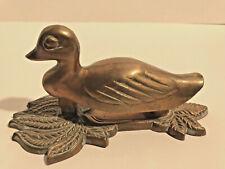 Vintage c1960 Well Detailed Solid Brass Duck Decoy Door Knocker