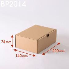 Lot de 50 Boîtes postales brunes 200x140x75 mm