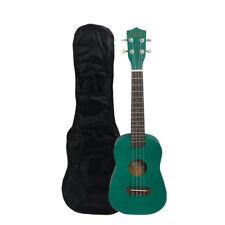 "UK102 23"" Green Rosewood Fingerboard Basswood Concert Hawaiian Ukulele with Bag"