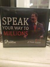 $5000 value New. Speak Your Way to Millions 21 Cd's Jt Foxx Program Complete Set