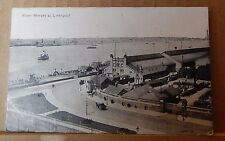 Postcard River Mersey At Liverpool Warehouse's shipping etc posted 1917