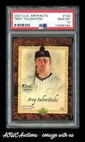 2007 U.D. Artifacts #100 Troy Tulowitzki RC - PSA GEM MINT 10