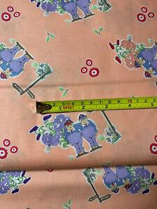 HALF METRE Tweedle pink tweedle Dee-tweedle Dum fabric/alice in wonderland