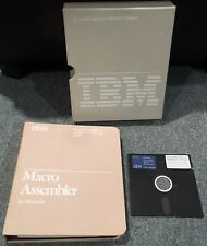 "IBM MICROSOFT Macro Assembler Manual 6024002 1st Edition 1981 DOS 5.25"" Diskette"