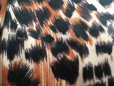 "New Brown Animal Print Leggings 5ft to 5ft 8"" Hip 36"" - 42"" Footless Medium"