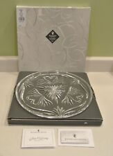 "Waterford Crystal 12"" Wedding Cake Plate #10480 Boxed Ireland Jim O'leary signed"