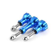 3x Aluminium Schrauben Blau 45mm / 60mm Zubehör passend für GoPro 5 6 und SJ4000