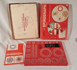 Kenners Spirograph #401 1967 Collectible Vintage Toys Spiral Patterns COMPLETE
