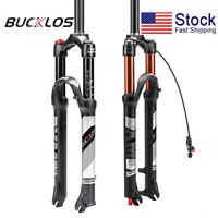 "26/27.5/29"" MTB Bike Air Suspension Forks Rebound QR Manual Remote Disc Cycling"