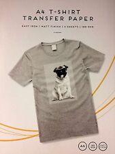 A4 FERRO su T-Shirt-trasferimento di carta per stampa a getto d'inchiostro-Confezione da 2.