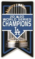 2020 WORLD SERIES PIN L.A. DODGERS CHAMPIONS BANNER LOS ANGELES MLB CHAMPIONSHIP