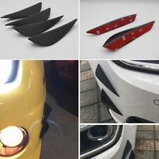 4 Pcs Universal ABS Carbon Fiber Style Auto Front Bumper Canards Splitters Trim