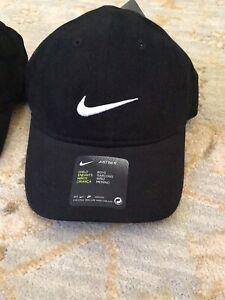 NWT Nike Boys Kids Cap Baseball Hat Child One Size Cotton Black