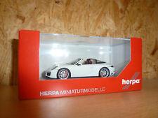 Herpa 071123 Porsche 911 TARGA 4s weiß