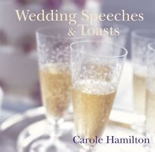 WEDDING SPEECHES AND  TOASTS BY CAROLE HAMILTON HARDCOVER BOOK BRAND NEW