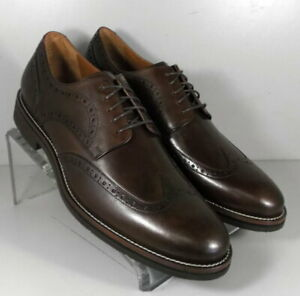 591673 MS50 Men's Shoes Size 9 M Brown Leather Lace Up Johnston & Murphy