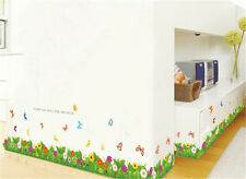Flower and grass scenery Home room Decor Removable Wall Sticker Decal Decoration