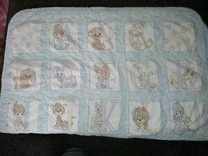 Precious Moments Quilt Baby Blanket Nursery Crib Alphabet ABC Vintage