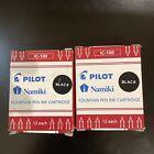 Pilot Namiki Fountain Pen Ink Cartridge in BLACK - 2pk/24 Total - NEW N69100