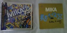 mika the boy who knew too much china signed album + relax single France promo