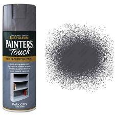 x4 Rust-Oleum Painters Touch Multi-Purpose Aerosol Spray Paint Dark Grey Gloss
