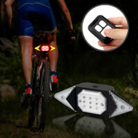 Bike Intelligent Smart Turn Signal Rear Light Remote Control LED Steer Lamp USB
