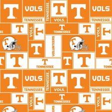 Tennessee Volunteers Geometric Fleece Fabric-NCAA Fleece Blanket Fabric