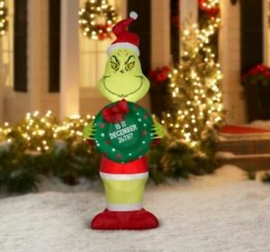 Gemmy Industries Yard Christmas Xmas Inflatables Grinch, 5.5 ft  new