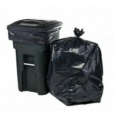 65 Gallon Black Trash Bags for Toter, 50 Bags Per Case