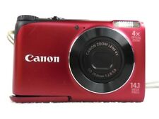 Canon PowerShot A2200 14.1 MP Digital Camera Red 2GB Memory Card 4X Zoom