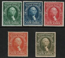 International Philatelic Exhibition NY 1913 - 5 Poster Stamps MH