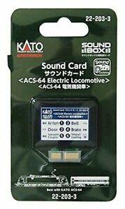 Kato Sound Card ~ New 2021 ~ ASC-64 Electric Locomotive ~22-203-3