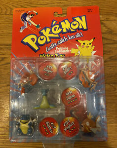 Pokemon Battle Figures Water Type 5 Pack Vintage Hasbro SEALED #99 98 131 129 09