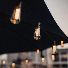 Solar Lichterkette EdisonGlühbirnen Außen Garten String Licht Birnen Party Deko