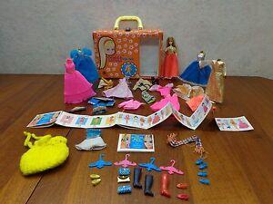 "Vintage 1965 Mattel Tutti Doll ""Dawn"" Play Case Clothes Poodle Og Paperwork. VgC"
