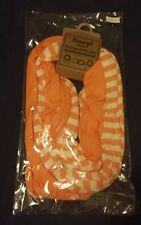 NWT, LOOK BY M, DONUT SCARF, COLLEGE COLLECTION,  ORANGE & WHITE STRIPED