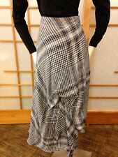 Oska Linen Plaid long Skirt Size III (Med/8/10) with adjustable ruching/length