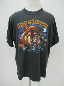 M0944 VTG Harley Davidson Motorcycle Biker Golf Graphic T-Shirt Made in USA XL