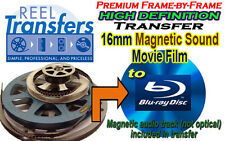 HD convert 16mm film WITH MAGNETIC SOUNDTRACK to Blu-Ray Disc