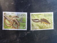 2002 ALAND, FINLAND REPTILES & NEWTS SET 2 MINT STAMPS MNH