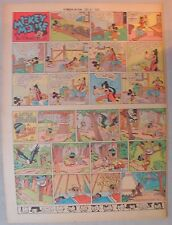 Mickey Mouse Sunday Page by Walt Disney from 7/6/1941 Tabloid Page Size