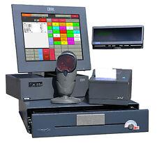 A-Ware! IBM POS CASSA SurePOS 300 touchscreen stampante scanner display cliente TOP!